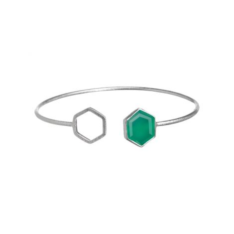 Hexa with Blank Link Silver