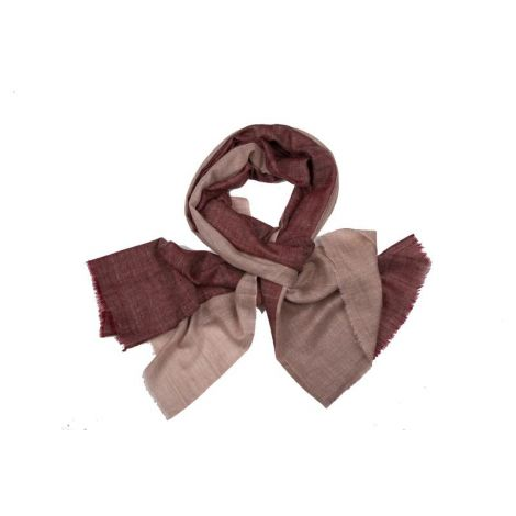 Double colour blocks Maroon beige