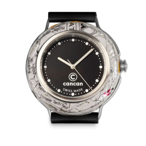 Uhr Schwarzes Ziffernblatt