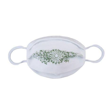 Behelfs-Gesichtsschutz Flower White