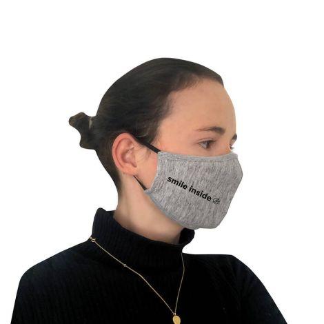 Behelfs-Gesichtsschutz Smile Grey