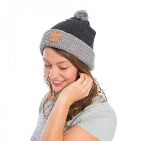 Eco Bommel-Mütze grey
