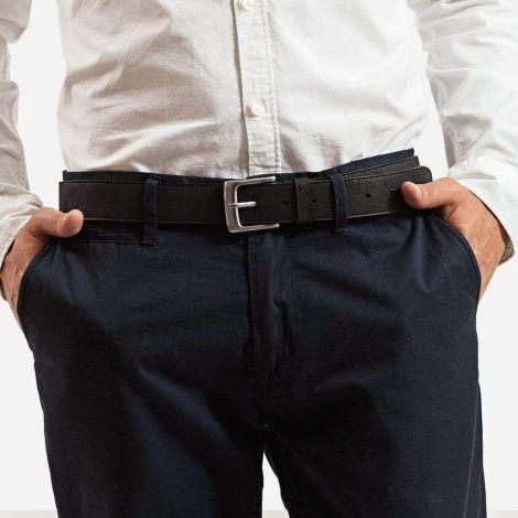 Men Cork Belt 35mm Black