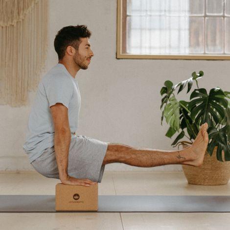 Yogablock aus Kork Klein