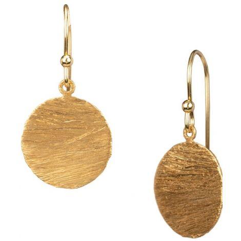 Medium Disk Hooks Gold