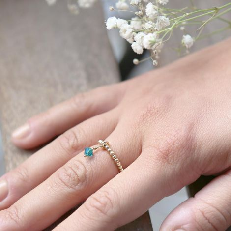 Enya Ring: Medium / Gold Filled / Emerald