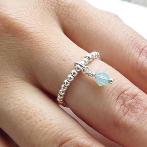 Enya Ring: Medium / Sterling Silver / Mint