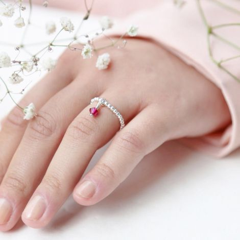 Enya Ring: Medium / Sterling Silver / Ruby