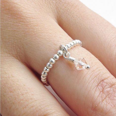 Enya Ring: Medium / Sterling Silver / Rose