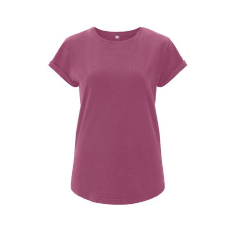 Rolled Sleeve T-Shirt Berry