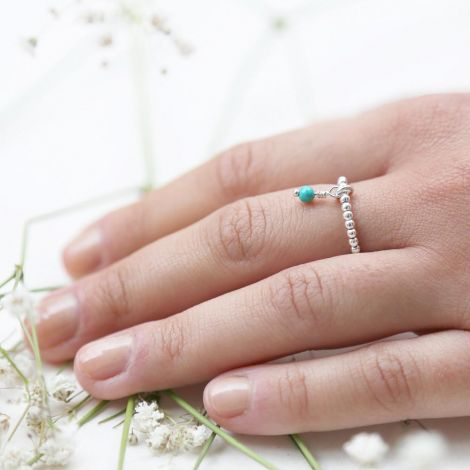 Epona Ring: Medium / Sterling Silver / Turquoise