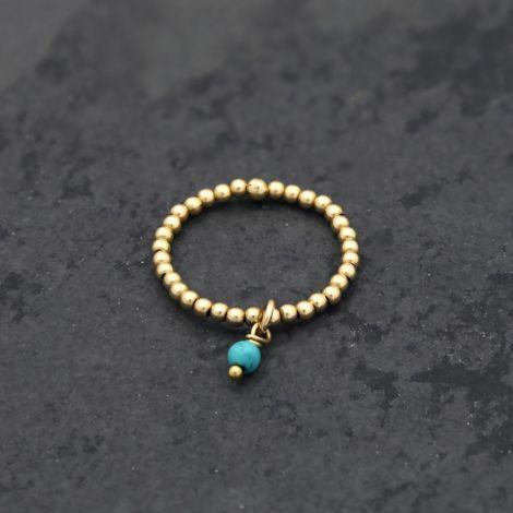 Epona Ring: Medium / Gold Filled / Turquoise