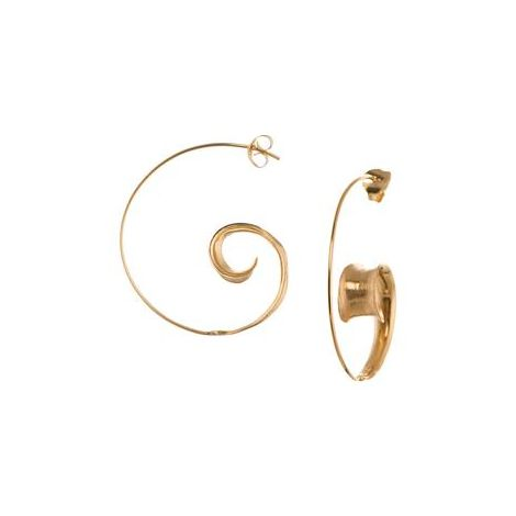 Curled leaf hoops Gold