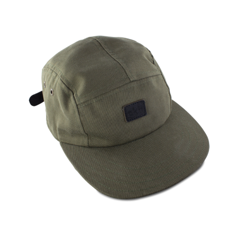 Five Panel Cap Olive Canvas