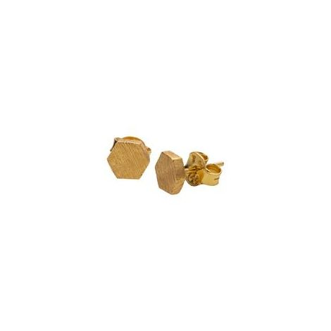 Mini Hexagon Studs Gold