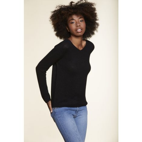 V Neck Sweater black