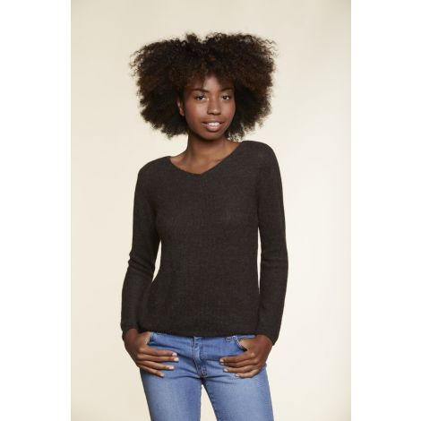 V Neck Sweater brown