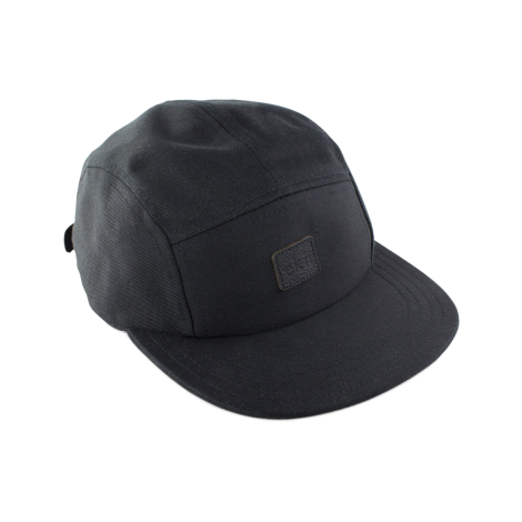 Five Panel Cap Black Canvas