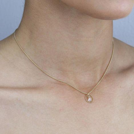 Jaden Eye Necklace: Medium / Gold Filled / Moonstone