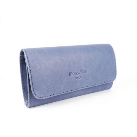 LLOSETA wallet blue leather
