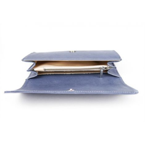 LLOSETA wallet blue leather