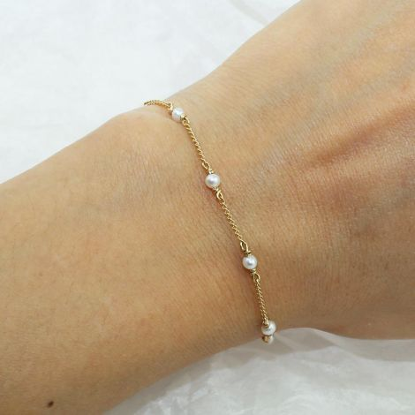Nia Bracelet: Gold Filled