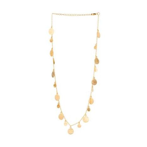 Multi Disk Necklace Gold
