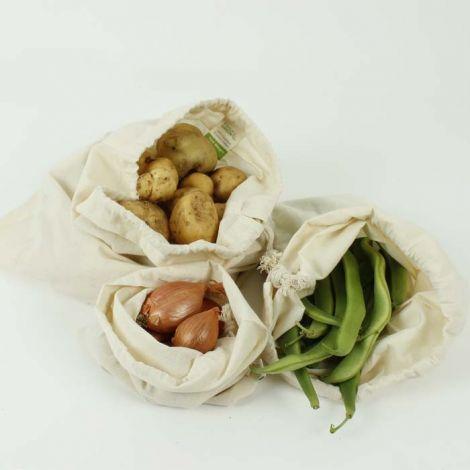 Bio-Baumwolle Einkaufstaschen, 3er Set
