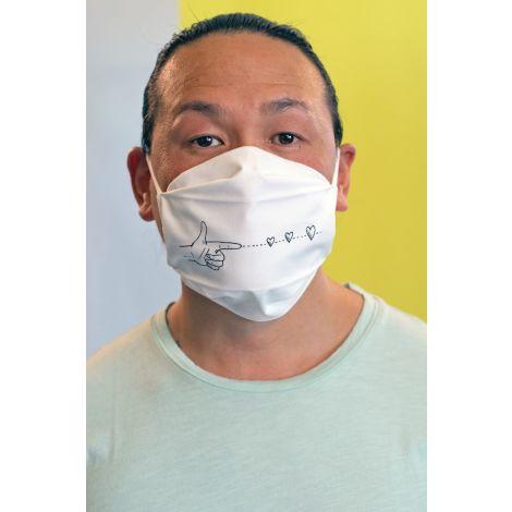Face Mask #SPREADLOVE white