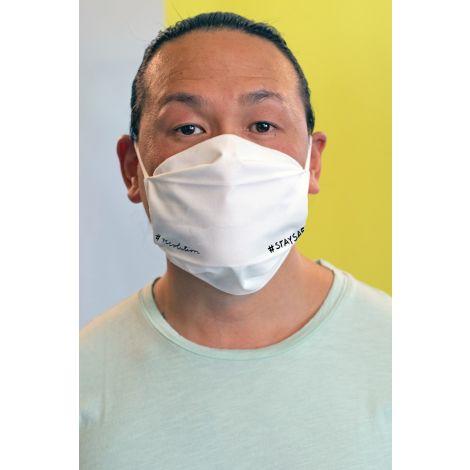 Face Mask Set of 3 #STAYSAFE white