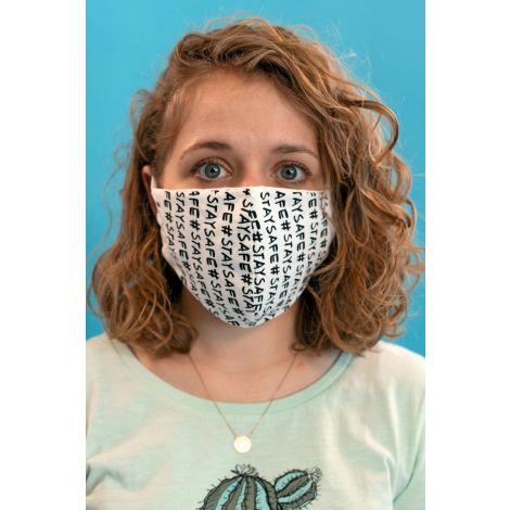 Face Mask #STAYSAFE white / black