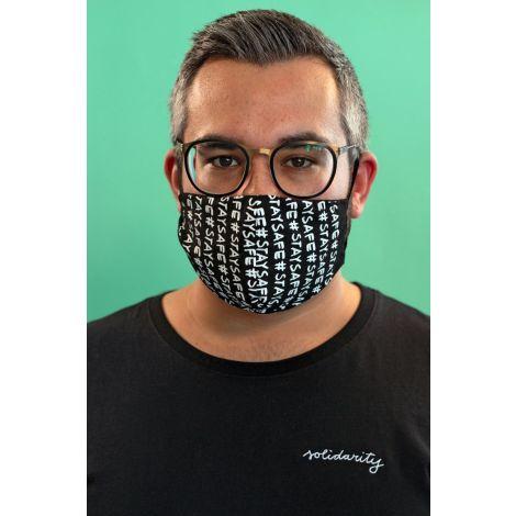 Face Mask #STAYSAFE black / white
