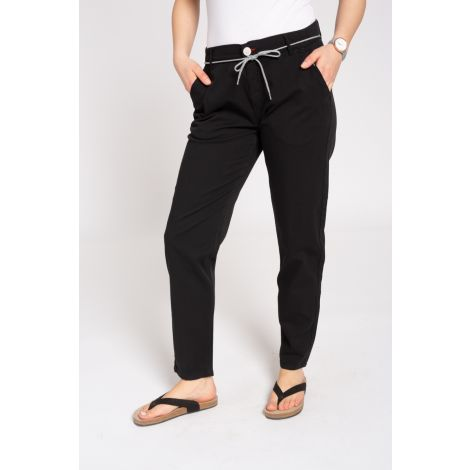 Canvas Pants Slim black