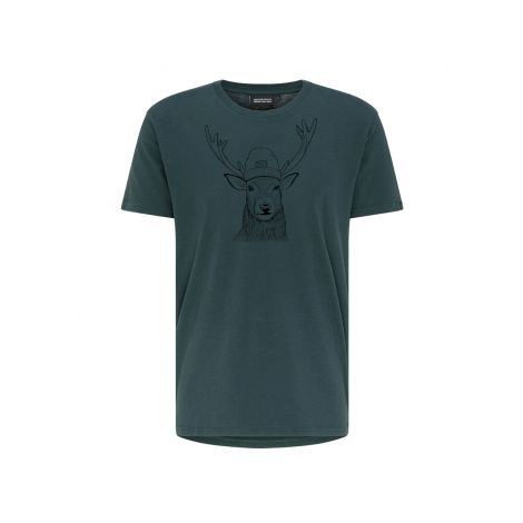 Casual T-Shirt #DEER dark eukalyptus