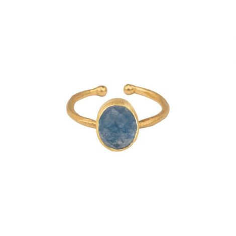 Oval Ring - Multi Set Gold