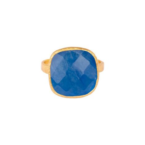 Rounded Square Ring Gold