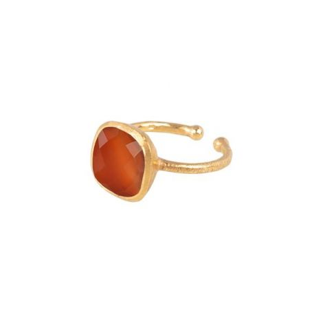 Square Cup Ring Gold