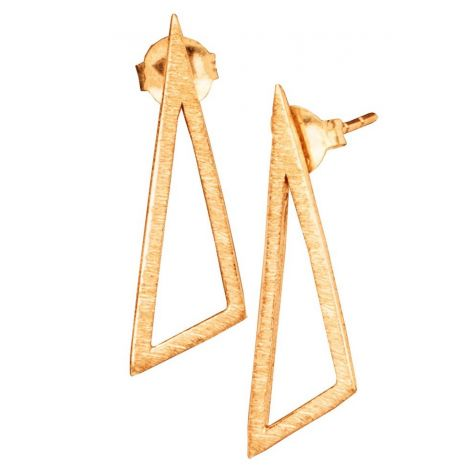 Triangle Studs Gold