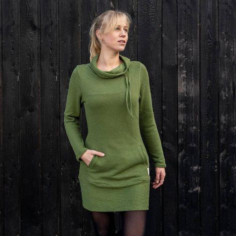 Toody Shawl Hoody Dress Ladies green