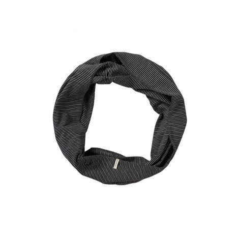 Loop Scarf #STRIPES black/grey melange