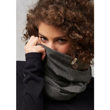 Loop Scarf #STRIPES black/grey melange