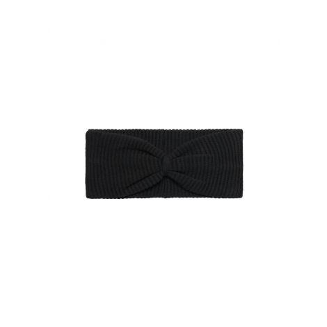 Rib Strick Stirnband schwarz